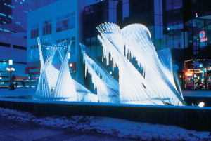 Carl Nesjar Ice Sculpture 2014 xmas